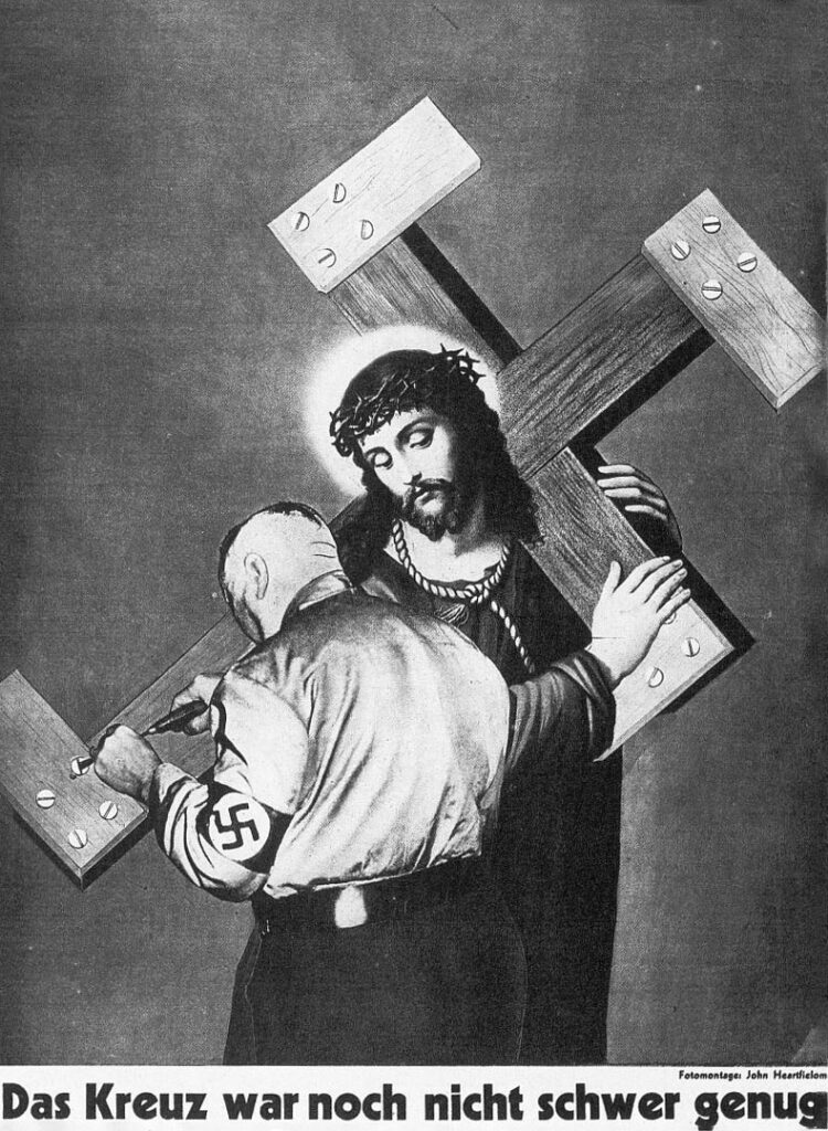 Poster of Jesus with a Nazi cross
